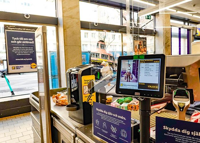 Schermi plexiglass centri commerciali